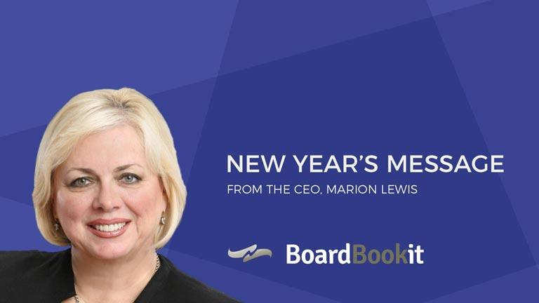 New Years Message Marion Lewis BoardBookit CEO