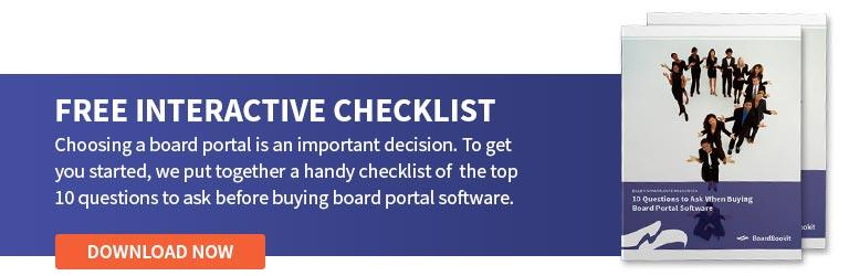 10 Questions to Ask When Buying Board Portal Software